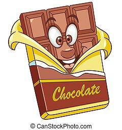 Cartoon chocolate bar