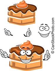 Cartoon chocolate cake with ganache frosting