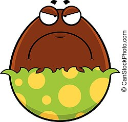 Cartoon Chocolate Egg Grumpy