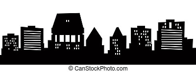 Cartoon Christchurch - Cartoon skyline silhouette of the ...