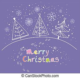 Cartoon Christmas background