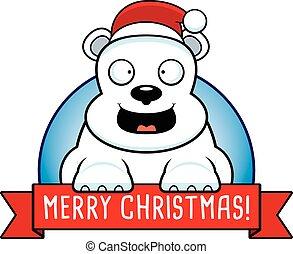 Cartoon Christmas Bear Banner