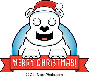 Cartoon Christmas Bear Banner