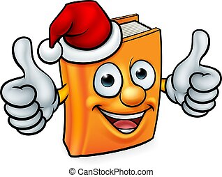 Cartoon Christmas Book Character Mascot