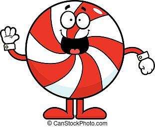 Cartoon Christmas Candy Happy