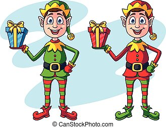 Cartoon Christmas Elf Character