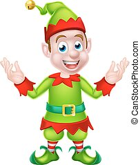 Cartoon Christmas Elf