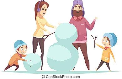 Cartoon Christmas Illustration