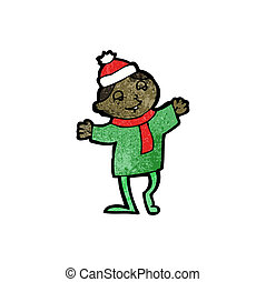 cartoon christmas imp