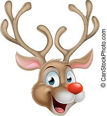 Cartoon Christmas Reindeer - An illustration of Santa Claus...