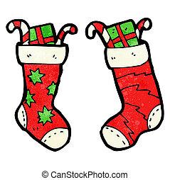 cartoon christmas stockings