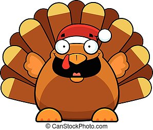 Cartoon Christmas Turkey Happy