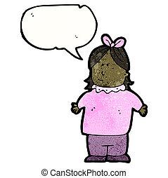 cartoon chubby woman,