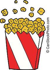 cartoon cinema popcorn