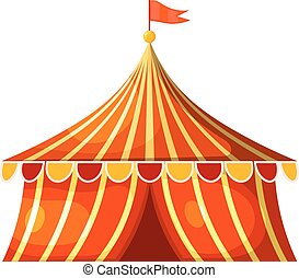 Cartoon circus marquee tent. Vector illustration