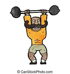 cartoon circus strong man