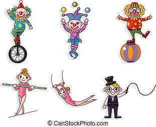 cartoon, cirkus
