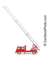 Cartoon classic fire truck.