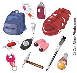 cartoon climbing tool icon