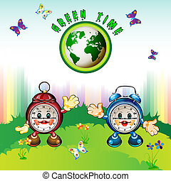 Cartoon clocks