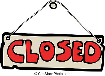 Cartoon closed sign — Stock Vector © lineartestpilot #45524053  Cartoon Closed