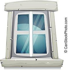 Cartoon Closed Window