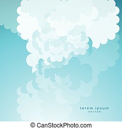cartoon cloud on blue sky background