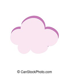 cartoon cloud sky icon in isolated style