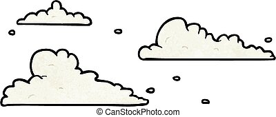 cartoon clouds drifting by