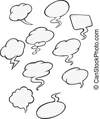 Cartoon clouds