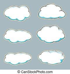 Cartoon clouds.