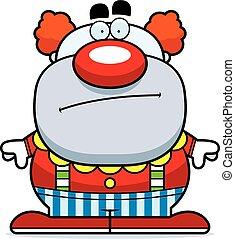 Cartoon Clown Bored