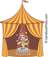 Cartoon clown boy
