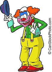 Cartoon clown on a white background vector illustration