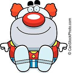 Cartoon Clown Sitting