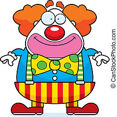 Cartoon Clown Smiling