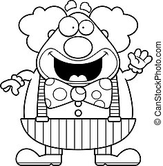 Cartoon Clown Waving