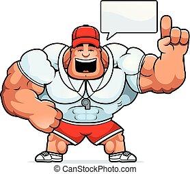 Cartoon Coach Talking