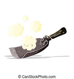 cartoon coal shovel