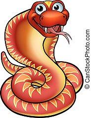 Cartoon Cobra Snake Character