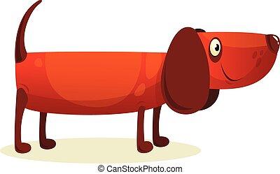 Cartoon cocker spaniel dog illustration.