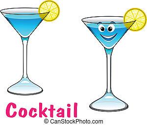 Cartoon cocktail character