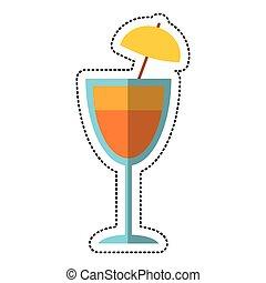 cartoon cocktail cup umbrella drink