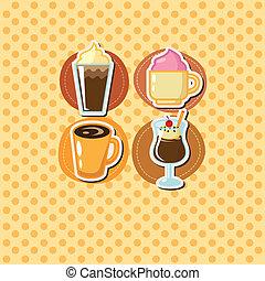 cartoon coffee card