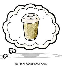 cartoon coffee craving