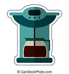 cartoon coffee maker pot machine