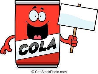 Cartoon Cola Can Sign
