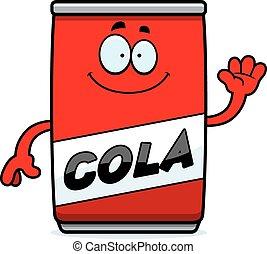 Cartoon Cola Can Waving