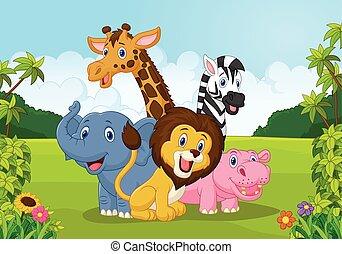 Cartoon Collection animal africa