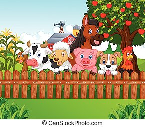 Cartoon Collection farm animals